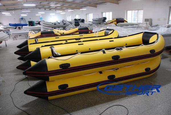 5M INFLATABLE ALUMINUM FLOOR BOAT GSA500